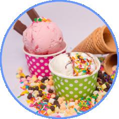 dois potes de sorvetes